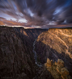 Black Canyon of the Gunnison, Cedar Point, moonlight, Gunnison River