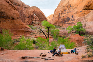 Broken Bow Arch, Escalante, Glen Canyon National Recreation Area, Utah, Willow Gulch, tent