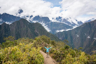 Cordillera Vilcabamba, Macchu Picchu, Peru, South America, hiking