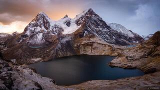 Ausangate, Cordillera Vilcanota, Lago Uchuy Pucacocha, Peru, South America