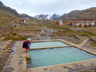 Peru, South America, Pacchanta, hot springs, Ausangate
