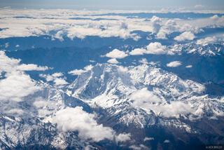 Cordillera Vilcabamba, Nevado Salkantay, Peru, South America, aerial