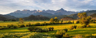 Colorado, Ridgway, San Juan Mountains, Sneffels Range, panorama