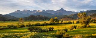 Colorado, Ridgway, San Juan Mountains, Sneffels Range, panorama