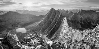 Trinity Peak Sunrise B&W