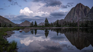 Colorado, Mount Nebo, San Juan Mountains, Weminuche Wilderness, reflection