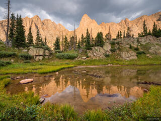 Colorado, Knife Point, Needle Mountains, San Juan Mountains, Weminuche Wilderness, sunset