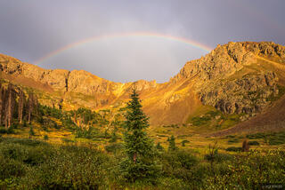 Colorado, Needle Mountains, San Juan Mountains, Weminuche Wilderness, rainbow, sunset