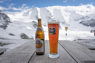 Bernina Range, Diavolezza, Rhaetian Alps, Switzerland, beer