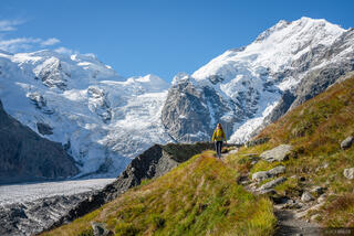 Bernina Range, Piz Bernina, Piz Zupo, Rhaetian Alps, Switzerland, Vadret da Morteratsch, hiking, Alps