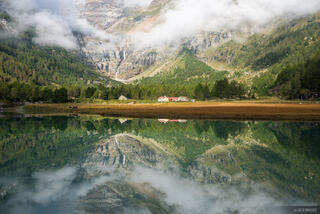 Alpe Palü, Bernina Range, Rhaetian Alps, Switzerland, reflection, Alps