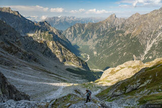 Italy, Passo del Barbacan, Rhaetian Alps, Val Codera, hiking, Alps