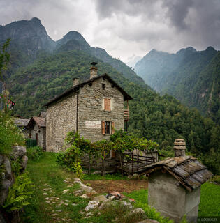 Codera, Italy, Rhaetian Alps, Val Codera