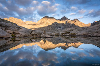 Bernina Range, Cima dal Largh, Piz Bacun, Piz Casnil, Rhaetian Alps, Switzerland, reflection
