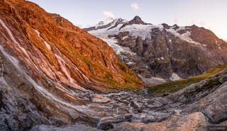 Bernese Alps, Schreckhorn, Switzerland, waterfall, Bernese Oberland, Alps