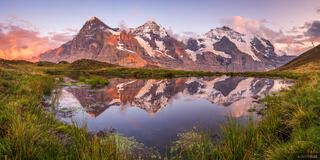 Bernese Alps, Eiger, Jungfrau, Kleine Scheidegg, Mönch, Switzerland, reflection, Bernese Oberland, panorama, Alps