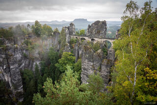 Bastei in the Rain