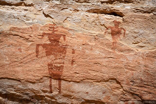 Bears Ears National Monument, Cedar Mesa, Slickhorn Canyon, pictographs