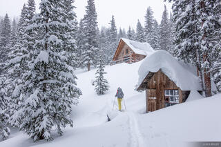 Colorado, Mount Hayden Backcountry Lodge, San Juan Mountains, cabin, skinning