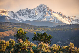 Colorado, Mount Sneffels, Ridgway, San Juan Mountains, sunset, sage