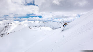 Colorado, San Juan Mountains, snowboarding