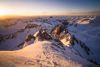Colorado, Mt. Sneffels, San Juan Mountains, Sneffels Range, sunrise, Teakettle, Potosi, summit
