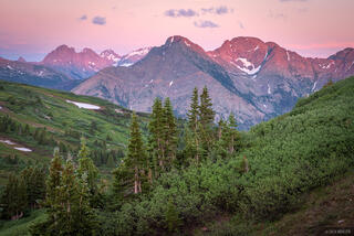 Animas Mountain, Colorado, Needle Mountains, North Twilight Peak, San Juan Mountains, Twilight Peak, Weminuche Wilderness, West Needle Mountains, sunset