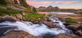 Bridger Wilderness, Mount Lester, Wind River Range, Wyoming, waterfall