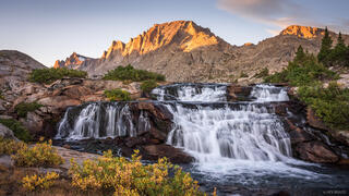 Bridger Wilderness, Fremont Peak, Wind River Range, Wyoming, waterfall