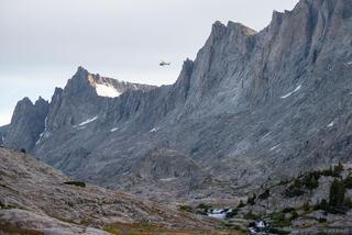 Bridger Wilderness, Mount Helen, Wind River Range, Wyoming, helicopter