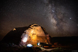 Grand Staircase - Escalante National Monument, Utah, camping, stars, truck, Escalante
