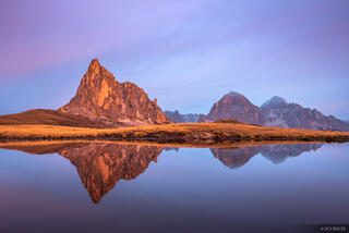 Dolomites, Italy, Passo Giau, Ra Gusela, Tofana de Rozes, October, reflection, Alps