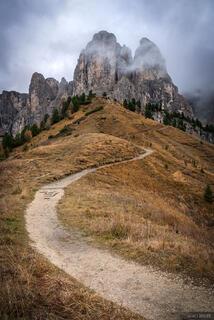 Dolomites, Gruppo del Sella, Italy, Passo Gardena, October, Alps