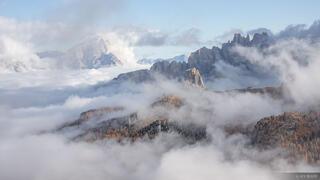 Cinqui Torri, Dolomites, Italy, Lagazuoi, October, Croda da Lago, Alps