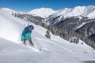 Colorado, San Juan Mountains, Silverton Mountain, snowboarding, Silverton, January