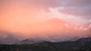 Cimarrons, Colorado, Courthouse Mountain, San Juan Mountains, sunset