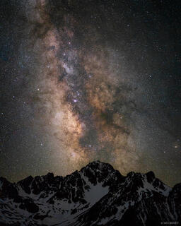 Colorado, Mount Sneffels, San Juan Mountains, Sneffels Range, stars, Milky Way