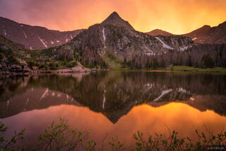 Colorado, Macey Lakes, Sangre de Cristos, sunset