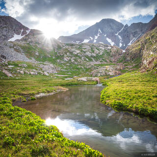 Colorado, San Juan Mountains, Wilson Peak, reflection