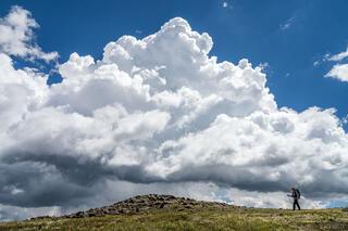 Collegiate Peaks Wilderness, Colorado, Sawatch Range, thundercloud, hiking