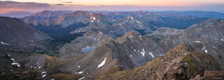 Collegiate Peaks Wilderness, Colorado, Mount Harvard, Mount Yale, Sawatch Range, 14er, summit, panorama