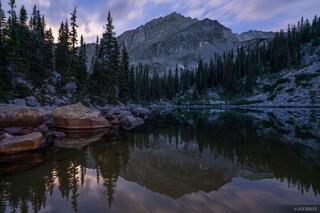 Colorado, Elk Mountains, Maroon Bells Snowmass Wilderness, moonlight