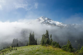 Glacier Peak, Glacier Peak Wilderness, Grassy Ridge, Washington, Cascades