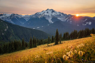 Glacier Peak Smoky Sunset