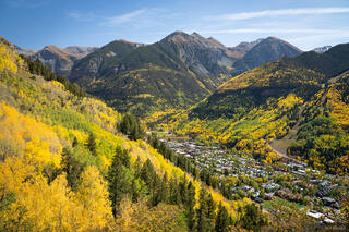 Colorado, San Juan Mountains, aspens, autumn, fall, Telluride