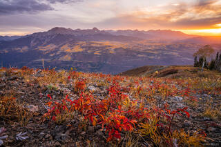 Baldy Peak, Colorado, San Juan Mountains, Sneffels Range, autumn, fall