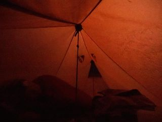 lightning, tent