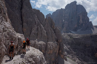Dolomites, Italy, via ferrata, Strada degli Alpini, Zwolferkofel