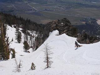 Tetons, Wyoming, snowboarding, Granite Canyon, spring, may