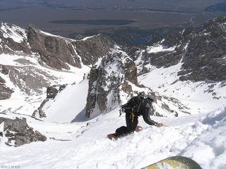 Middle Teton, snowboarding, Tetons, Wyoming